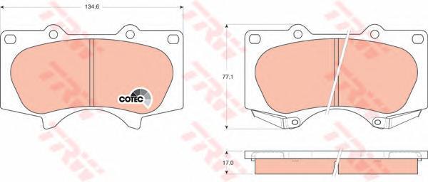 Колодки тормозные дисковые TRW/Lucas GDB3364GDB3364