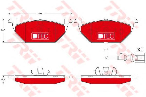 Колодки тормозные передние TRW/Lucas GDB1658DTEGDB1658DTE