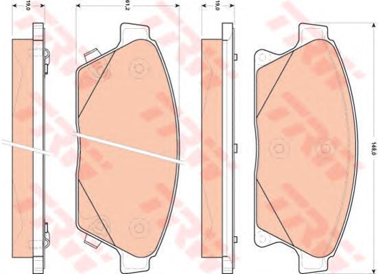 Колодки тормозные дисковые TRW/Lucas GDB1847GDB1847