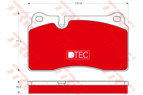 Колодки тормозные передние TRW/Lucas GDB1670DTEGDB1670DTE