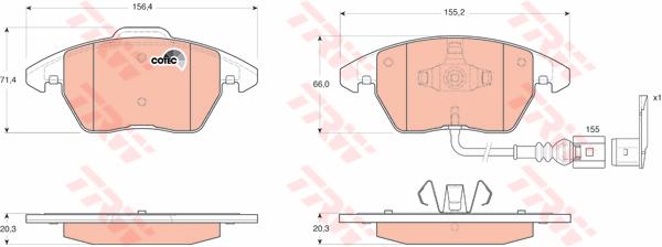 Колодки тормозные дисковые TRW/Lucas GDB1550GDB1550
