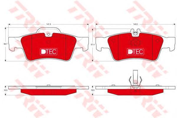 Колодки тормозные задние TRW/Lucas GDB1546DTEGDB1546DTE