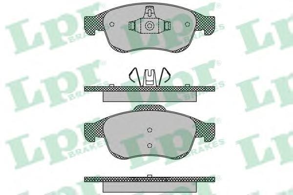 Колодки тормозные передние LPR / AP 05P149305P1493