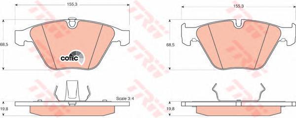 Колодки тормозные дисковые TRW/Lucas GDB1498GDB1498