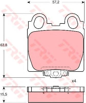 Колодки тормозные дисковые TRW/Lucas GDB3233GDB3233