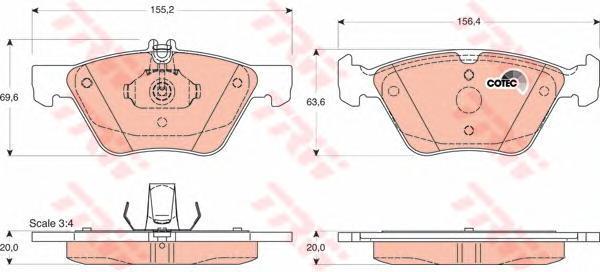 Колодки тормозные дисковые TRW/Lucas GDB1215GDB1215