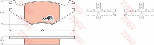 Колодки тормозные дисковые TRW/Lucas GDB463GDB463