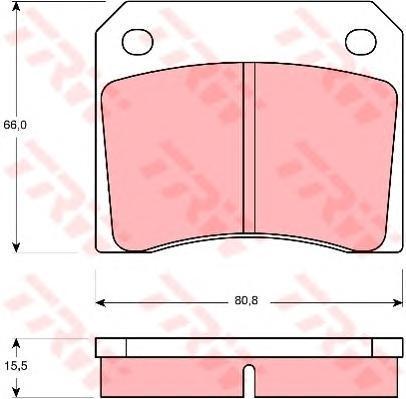 Колодки тормозные дисковые TRW/Lucas GDB557GDB557
