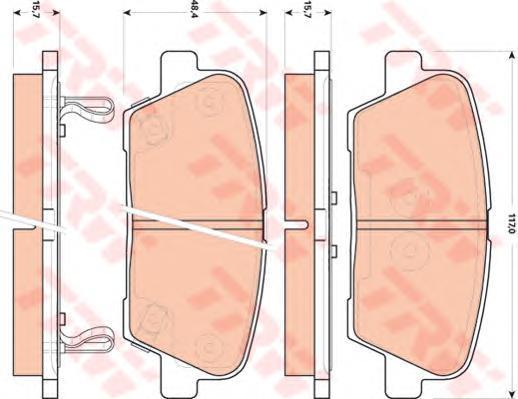 Колодки тормозные дисковые TRW/Lucas GDB3499GDB3499