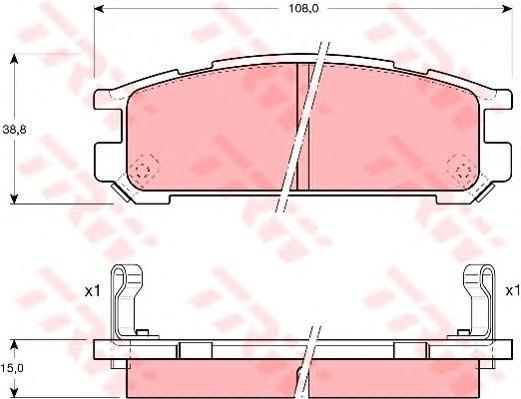 Колодки тормозные дисковые TRW/Lucas GDB990GDB990