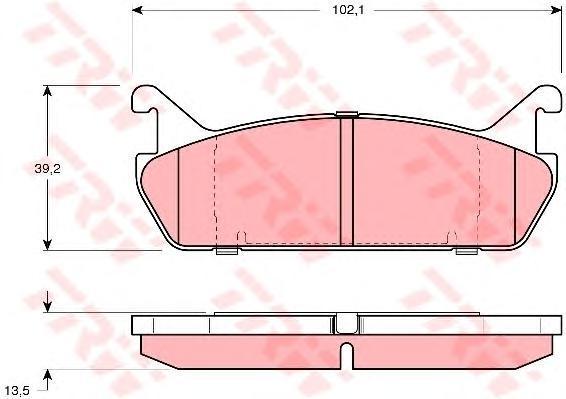 Колодки тормозные дисковые TRW/Lucas GDB887GDB887
