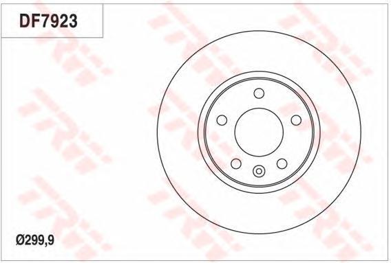 Диск тормозной передний TRW/Lucas DF7923 комплект 2 штDF7923