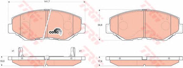 Колодки тормозные дисковые TRW/Lucas GDB3325GDB3325