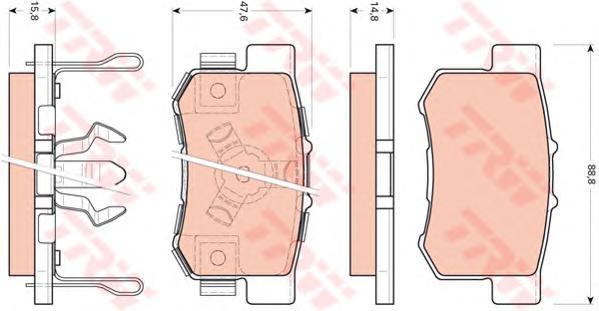 Колодки тормозные дисковые TRW/Lucas GDB3438GDB3438