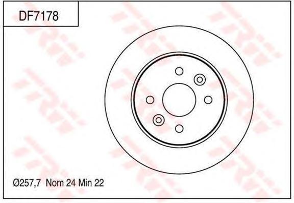 Диск тормозной TRW/Lucas DF7178 комплект 2 штDF7178