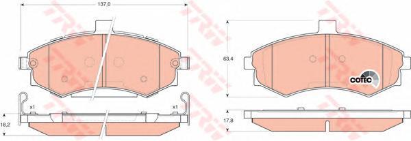 Колодки тормозные дисковые TRW/Lucas GDB3378GDB3378