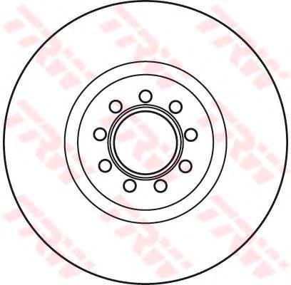 Диск тормозной передний вентилируемыйD=290мм TRW/Lucas DF4984SDF4984S