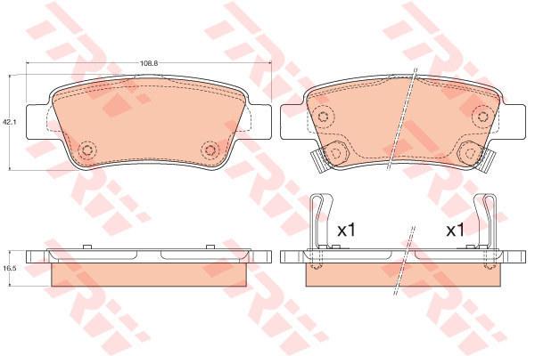 Колодки тормозные задние TRW/Lucas GDB3576GDB3576