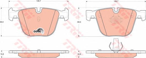 Колодки тормозные дисковые TRW/Lucas GDB1502GDB1502