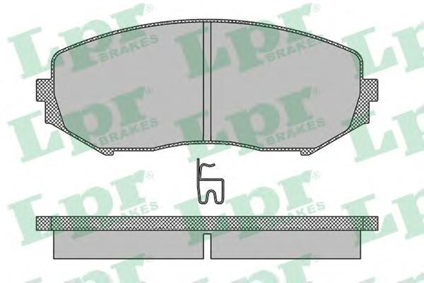 Колодки тормозные передние LPR / AP 05P131805P1318