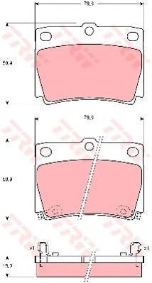 Колодки тормозные дисковые TRW/Lucas GDB3239GDB3239