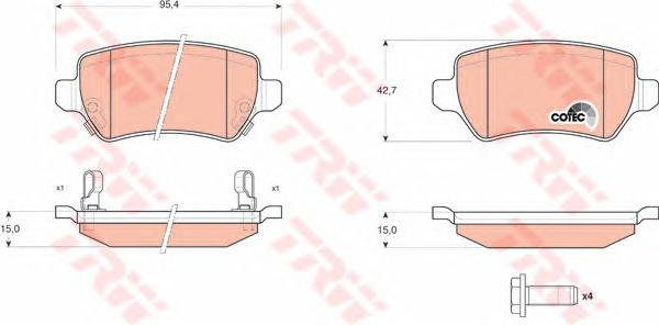 Колодки тормозные дисковые TRW/Lucas GDB1515GDB1515