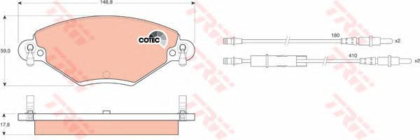 Колодки тормозные дисковые TRW/Lucas GDB1448GDB1448
