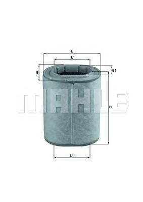Фильтр воздушный Mahle LX1460LX1460