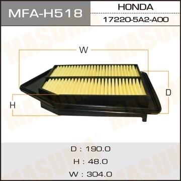 Фильтр воздушный Masuma MFA-H518MFA-H518