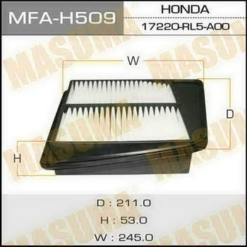 Фильтр воздушный Masuma MFA-H509MFA-H509