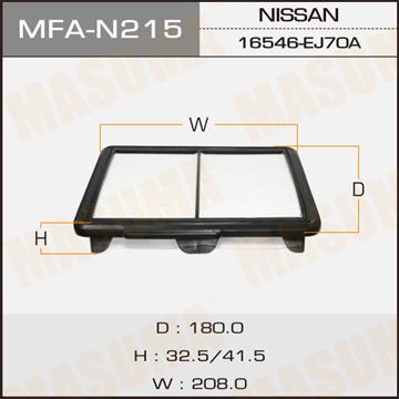 Фильтр воздушный Masuma. MFA-N215