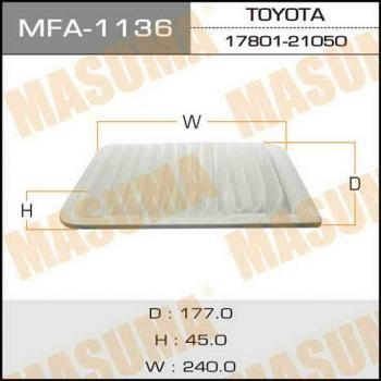 Фильтр воздушный Masuma MFA-1136MFA-1136
