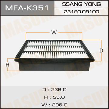 Фильтр воздушный Masuma MFA-K351MFA-K351