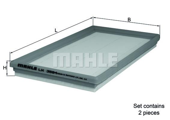 Комплект фильтров воздушных Mahle,LX3594/SLX3594/S
