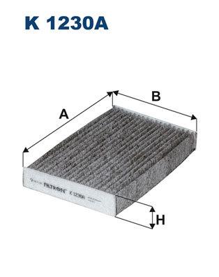 Фильтр салона угольный Filtron. K1230AK1230A