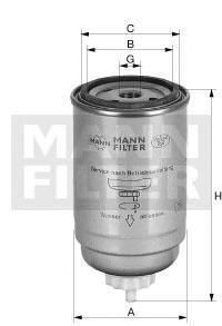 Фильтр топливный Mann-Filter WK842WK842