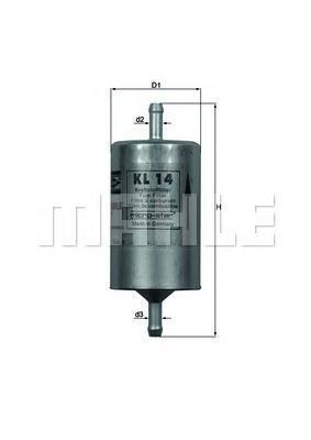 Фильтр топливный Mahle KL14KL14