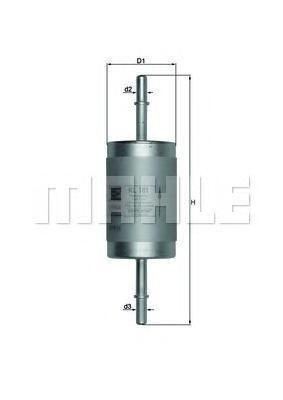 Фильтр топливный Mahle KL181KL181