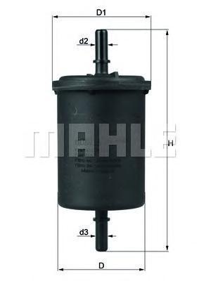 Фильтр топливный Mahle KL416/1KL416/1