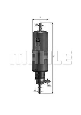 Фильтр топливный Mahle KL437KL437