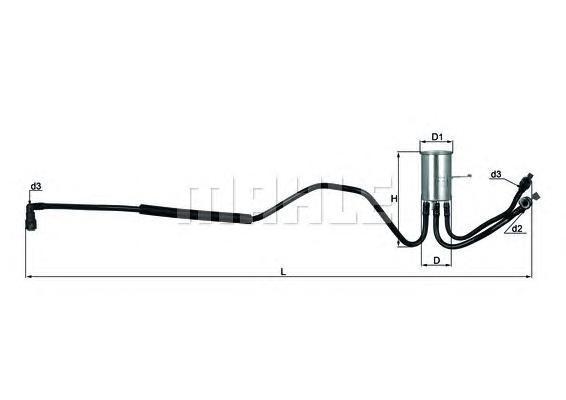 Фильтр топливный Mahle KL553KL553