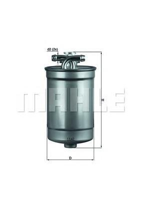Фильтр топливный Mahle KL554DKL554D