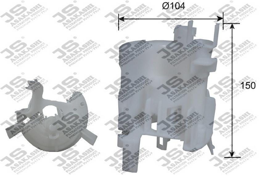 Фильтр топливный JS Asakashi FS8020AFS8020A