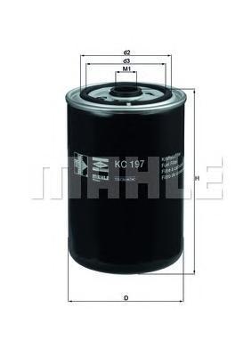 Фильтр топливный Mahle KC197KC197