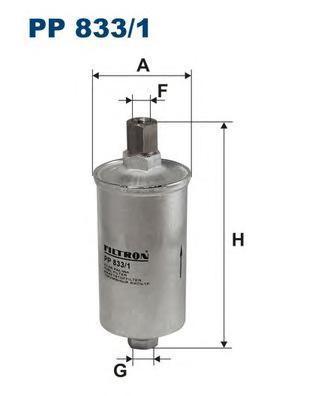 Фильтр топливный Filtron PP833/1PP833/1