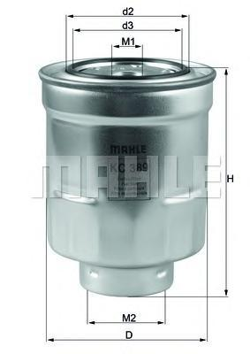 Фильтр топливный Mahle KC389KC389
