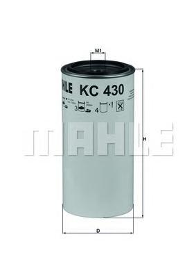 Фильтр топливный Mahle KC430DKC430D