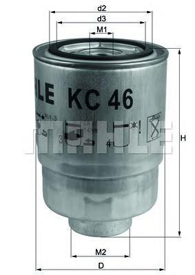 Фильтр топливный Mahle KC46KC46
