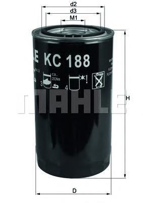 Фильтр топливный Mahle KC188KC188
