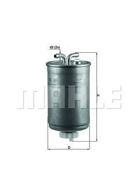 Фильтр топливный Mahle KL41KL41